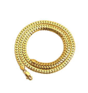 14k Gold Over Stainless Steel Miami Cuban Link Chain 6.6mm
