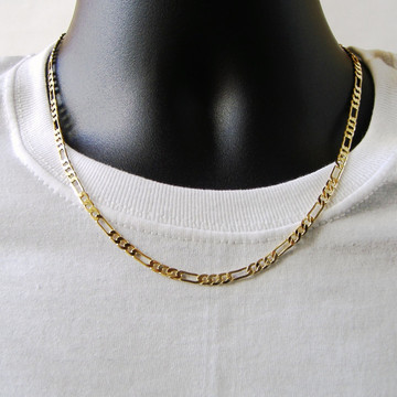 14k Gold 4mm Figaro Link Chain Necklace