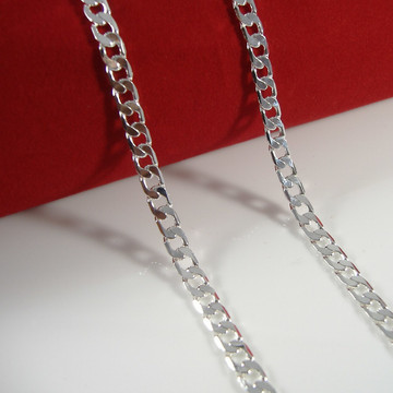 925 Silver 4.8mm Classic Cuban Link Chain Necklace