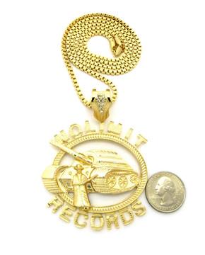 14k Gold No Limit Inspired Tank Hip Hop Pendant Necklace