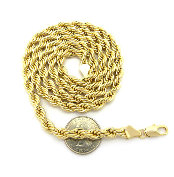 14k Gold 7mm Rope Chain