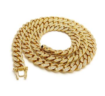 14k Gold Christ The Redeemer Hip Hop Cuban Link Pendant