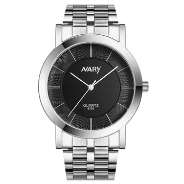 His and Hers Black Single Tungsten Stainless Steel Wrist Watches