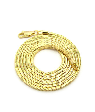 14k Gold Snake Link hip hop Chain 1