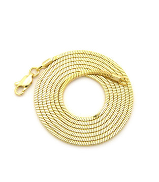 14k Gold Snake Link hip hop Chain 2