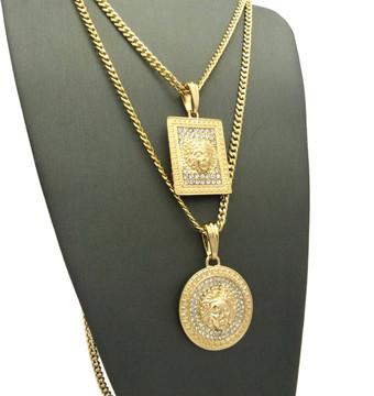 Hip Hop Medallion Chain Set