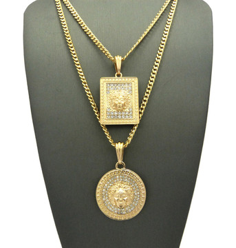 Medusa Square Medallion Chain