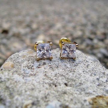 Diamond 5mm Earrings