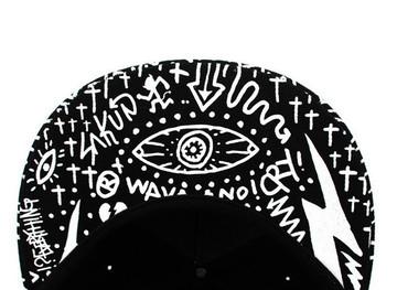 Flat Bill Snapback Hat Black