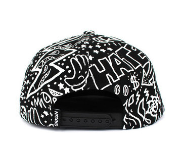All Seeing Eye Flat Bill Snapback Hat Black