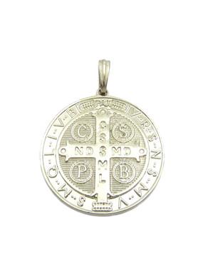 Saint Benedict Cross Medal Medallion Pendant (Back)