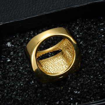Men's Gold Bling Simulated Diamond Iced Out Stainless Steel Ring