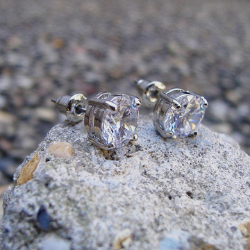 Iced Out Simulated Diamond Earrings