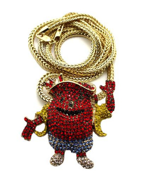 Iced Out kool Aid Man Diamond Cz Hip Hop Bling Pendant