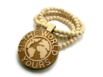 Scarface The World is Yours Hip Hop Pendant Wood Natural