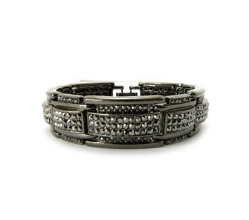 Rings Of Ice Hip Hop Bling Bracelet Black