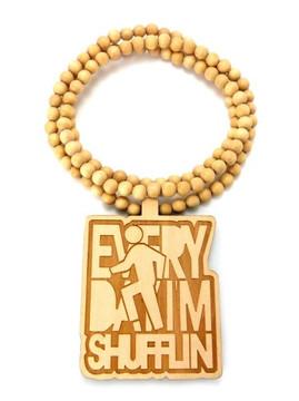 LMFAO Everyday Im Shufflin Wooden Hip Hop Pendant Natural
