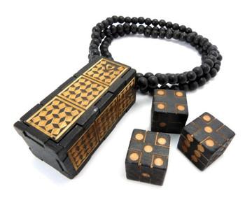 Cee Lo Dice Game Black Wood Hip Hop Pendant