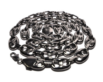 Hip Hop 2 Chainz Inspired Black Link Chain Necklace