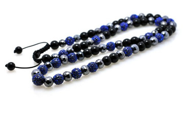 Blue Cz Shiny Disco Ball Iced Out Chain