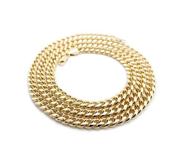 "Miami Cuban Link Chain Necklace 36"" 14k Gold"