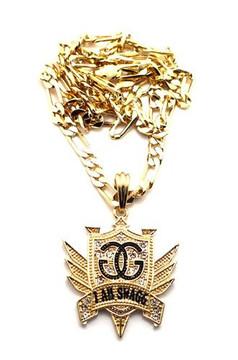 I Am Swagg Gold Cz Hip Hop Pendant