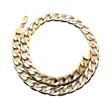 Mens Hip Hop 12mm 20 Inch Thick Cuban Link Chain Necklace