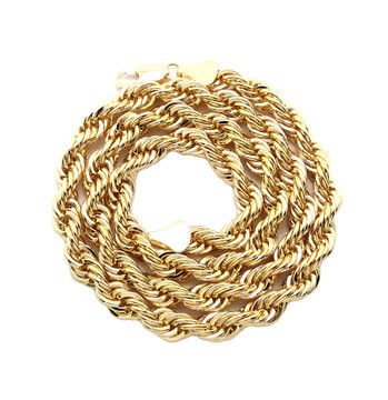 Men's Gold 8.3mm 24 Inch Rope Chain Necklace
