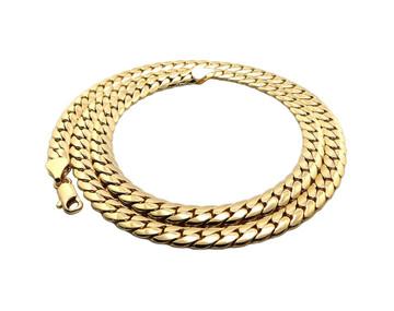 """Men's Close Cut 7mm 24"""" Miami Cuban Link Chain Necklace"""