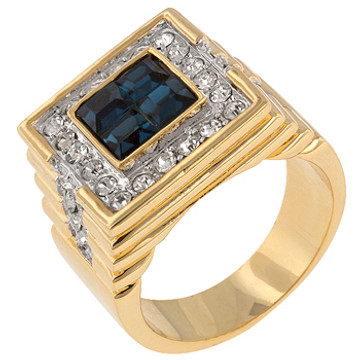 Mens Simulated Diamond Iced Out Strong Sea Ring