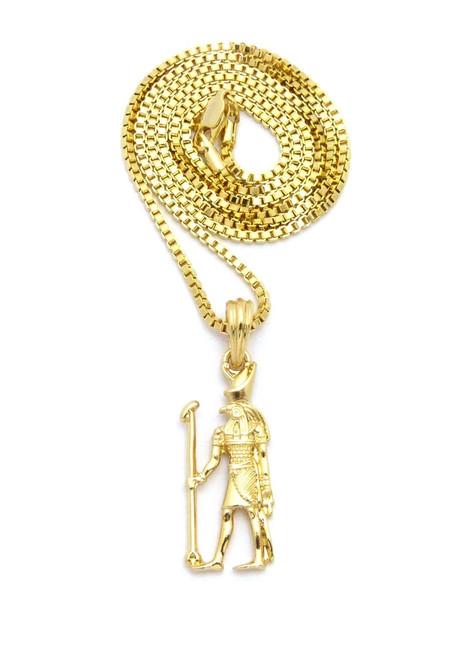 Egyptian jewelry egypt jewelry africa jewelry africian jewelry 14k gold african ancient egypt horus staff pendant aloadofball Image collections