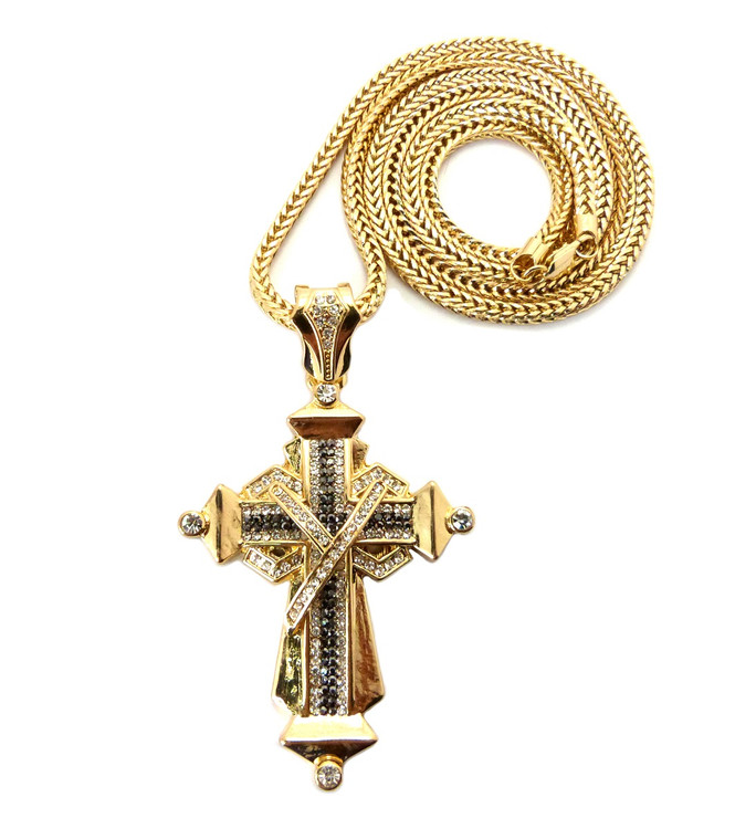 Ribbon Cross 14k Gold