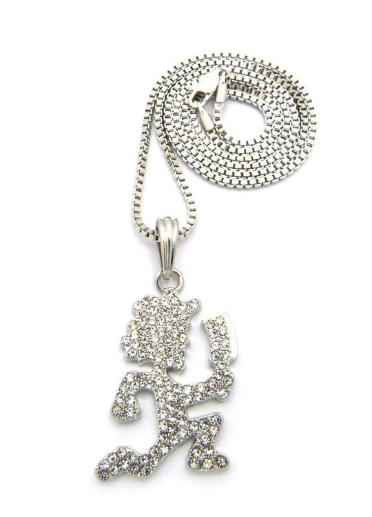 ICP Inspired Hatchetman Hip Hop Pendant Chain Silver