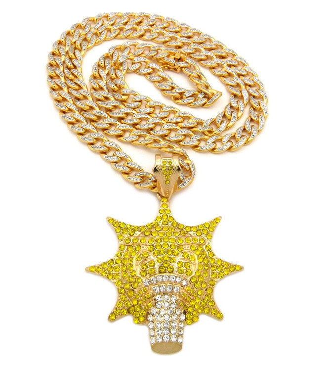 Chief Keef Inspired Glo Man Gang Chain Hip Hop Pendant Gold