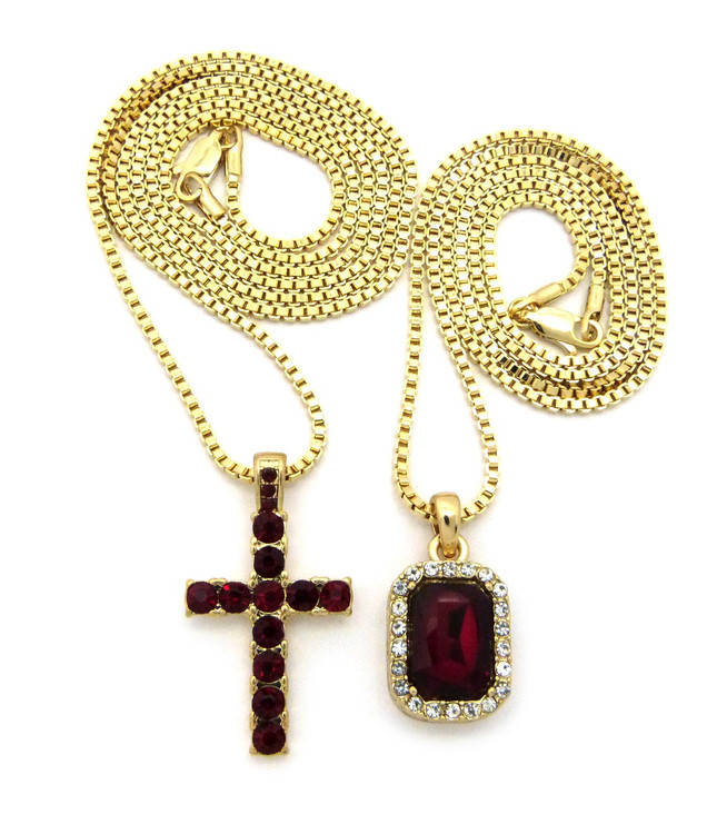 14k Gold Onyx Shield Micro Small Cross Iced Out Pendant