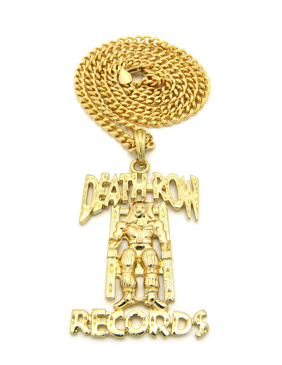 Death Row Records Inspired 14k Gold Hip Hop Pendant
