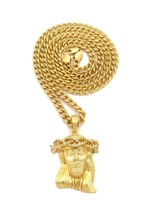 Crown Jesus Piece Chain