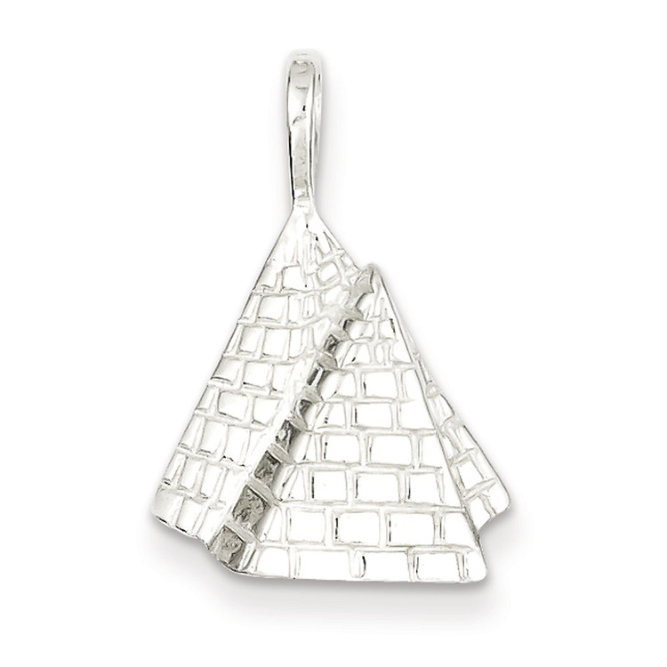 Ancient Egypt 925 Sterling Silver Pyramid Bling Jewelz Pendant