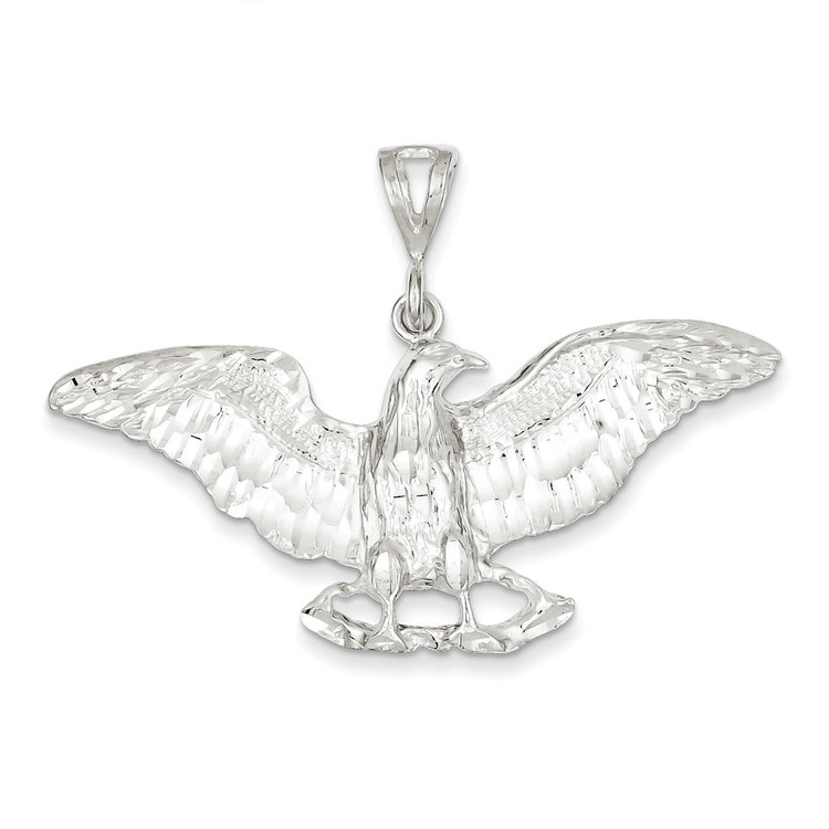 Mens Bling Jewelz 925 Sterling Silver Flying Spread Eagle Pendant