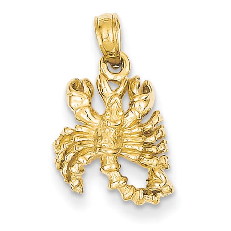 Mens 14k Yellow Gold Scorpio Bling Jewelz Pendant