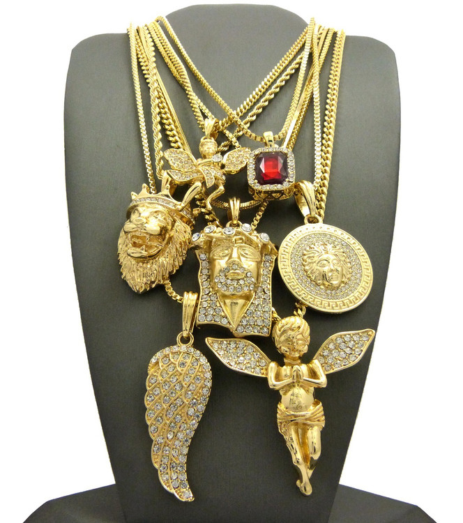 Evil is Present Jesus Piece 14k Gold Ultra Baller Hip Hop Chains