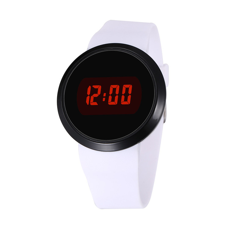 Touch Screen Silicone Fashion Waterproof Men's LED Wrist Watch