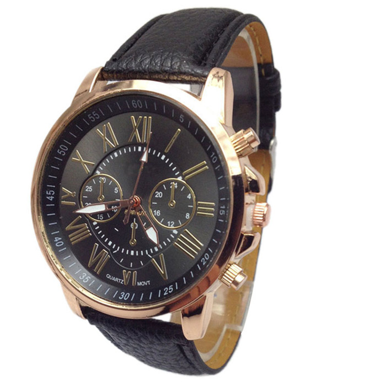 Ladies Business Ceo Leather Wrist Watch