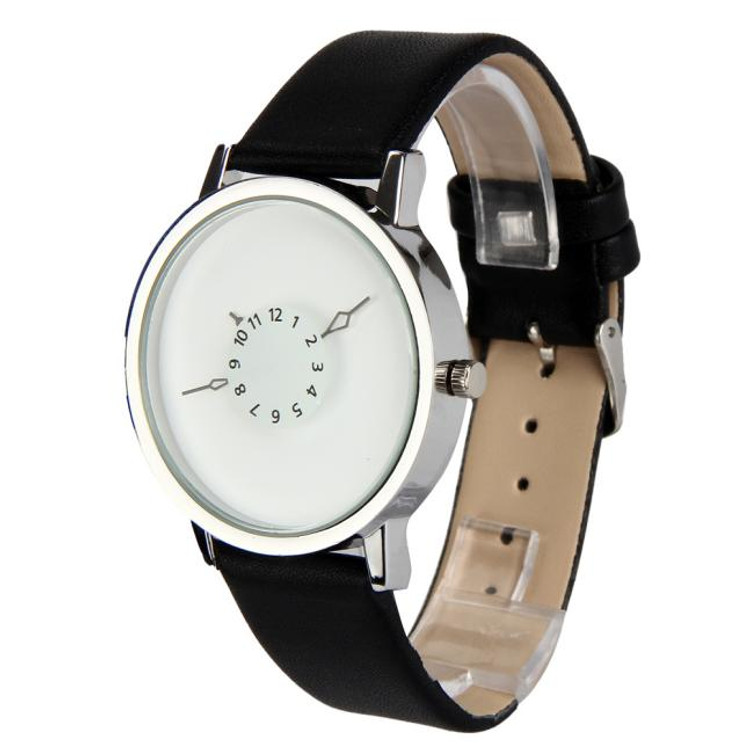 Mens Clean Classic White Arrow Face Hip Hop Watch