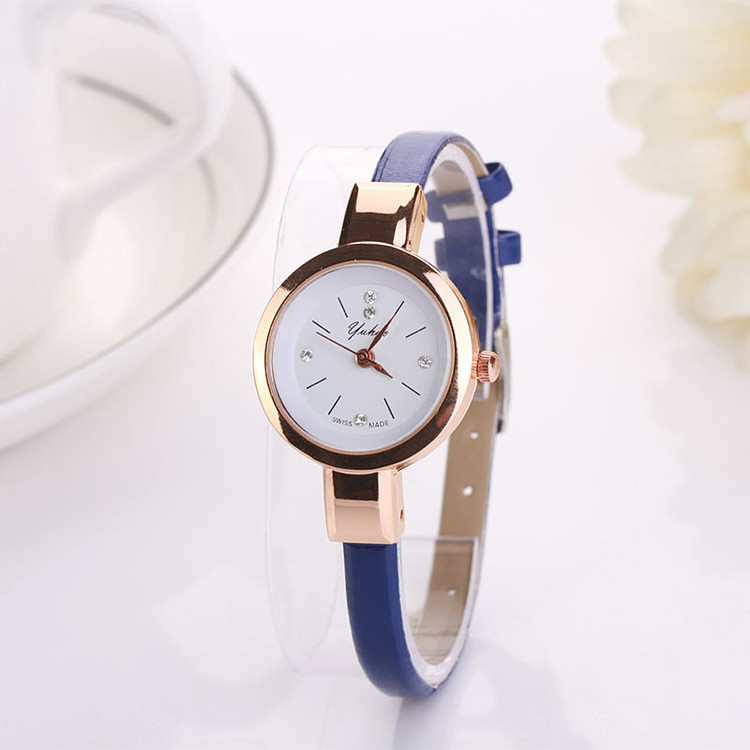 Slim Band Simulated Diamond Watch