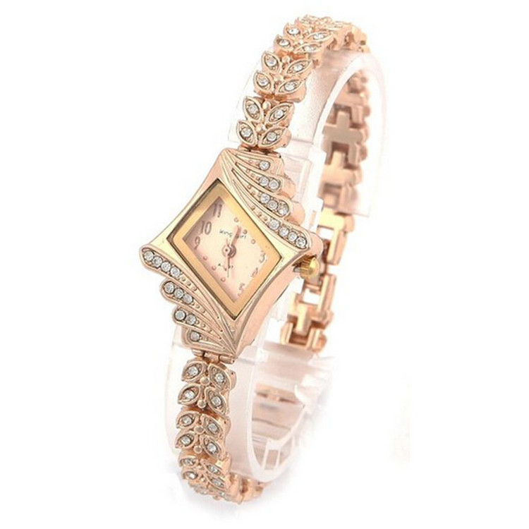 Women's Fashion Crystal Rhombus Bracelet Bangle Watch