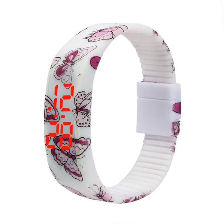Thin Girl Ultra Sports Silicone Digital LED Bracelet Wrist Watch