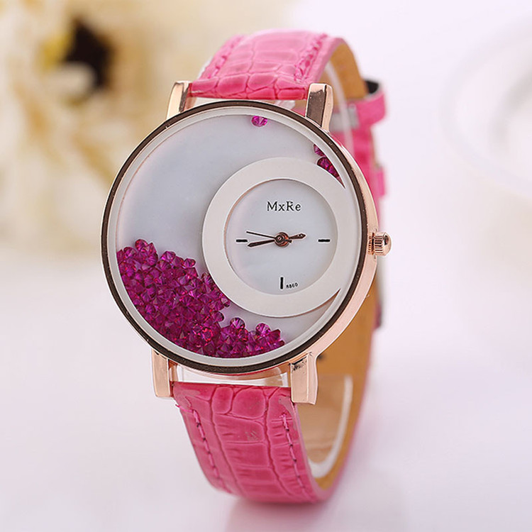Quicksand Rhinestone Fashion Wrist Watch
