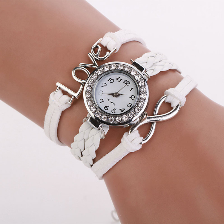 Infinity Love Hand-knitted Women's Leather Chain Watch