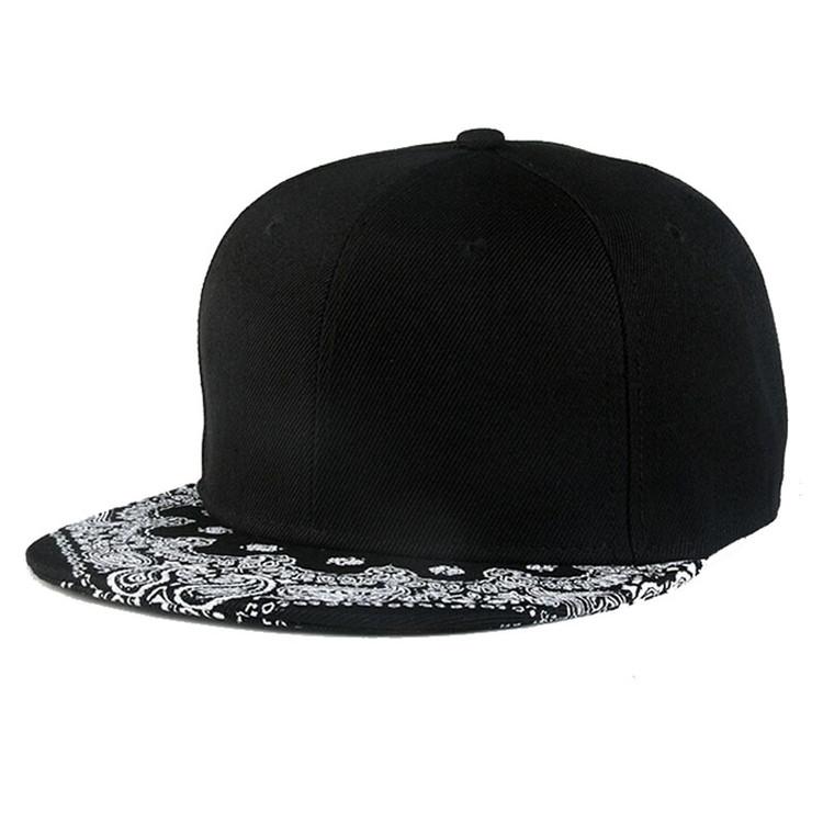 Black Paisley Snapback Hip Hop D-Boy Hat